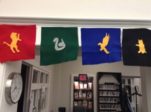 Hogwarts house banners